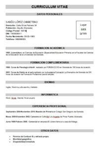 MODELOS CV TRADICIONAL