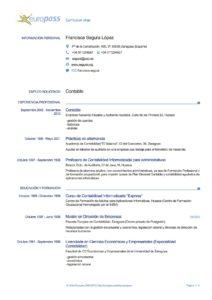 modelo de curriculum vitae en español