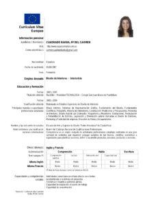 Curriculum Vitae Europeo Tu Curriculum Perfecto Actualizado